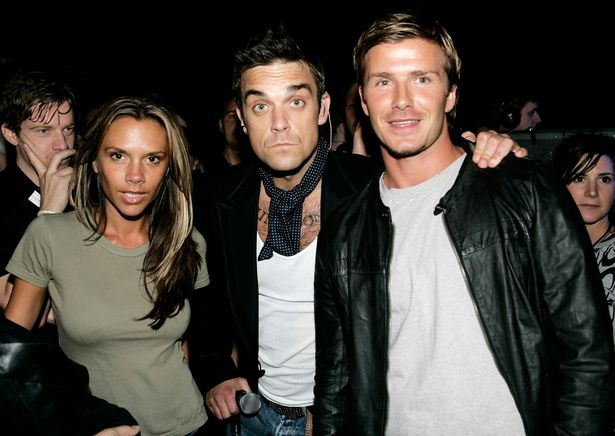 Robbie apologised after joking that he would rather have bedded Victoria Beckham, who went on to marry David, right