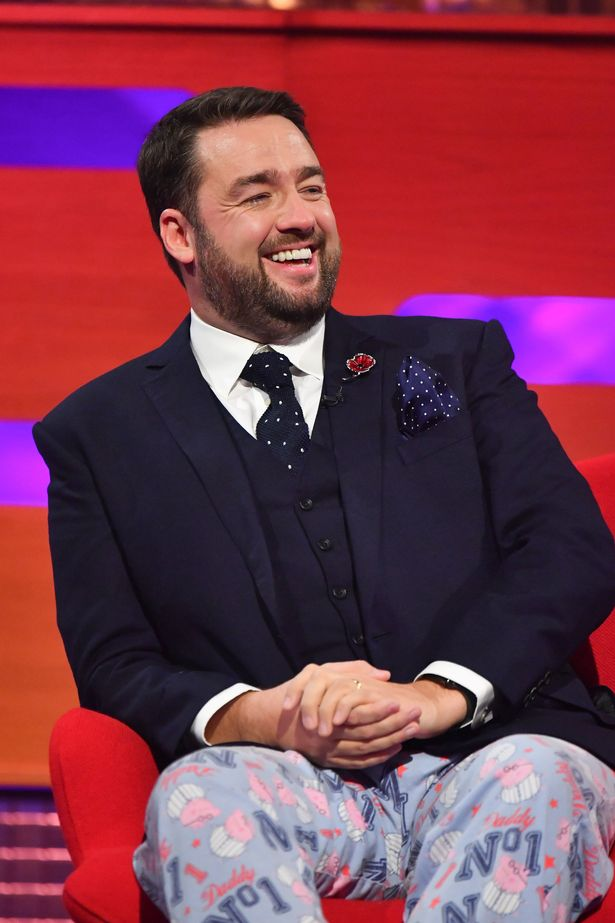 The comedian appeared on Graham Norton in his PJs