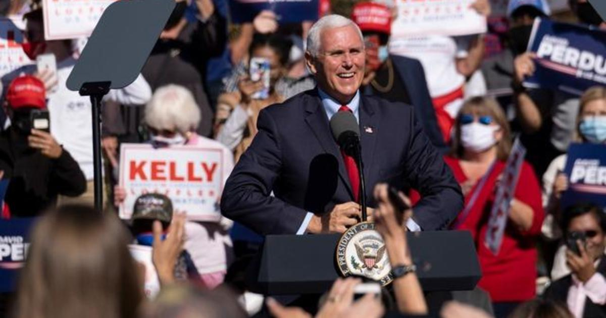 Mike Pence campaigns in Georgia for Senate runoff elections