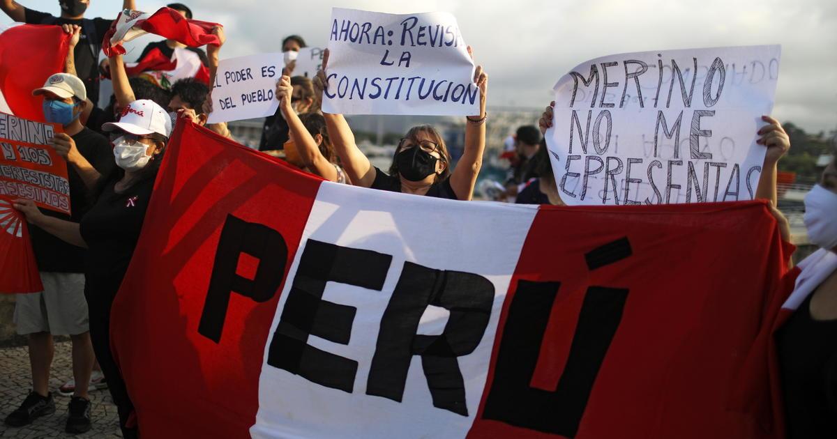 Peru's interim president resigns amid massive demonstrations