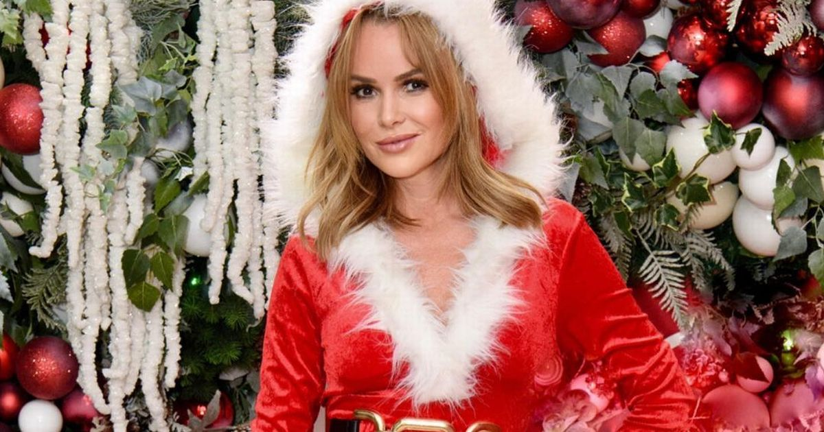 Amanda Holden dons sexy Santa dress to urge fans to get into Christmas spirit