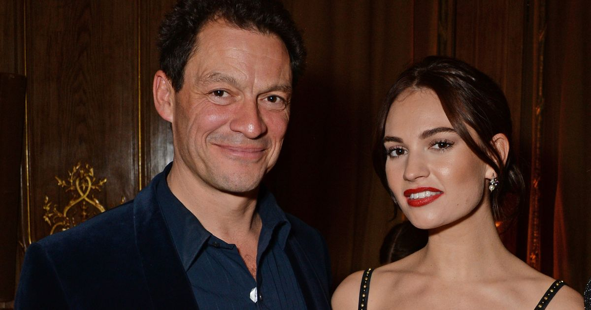 Dominic West calls deliveryman 't***' for 'blabbing about Lily James affair'
