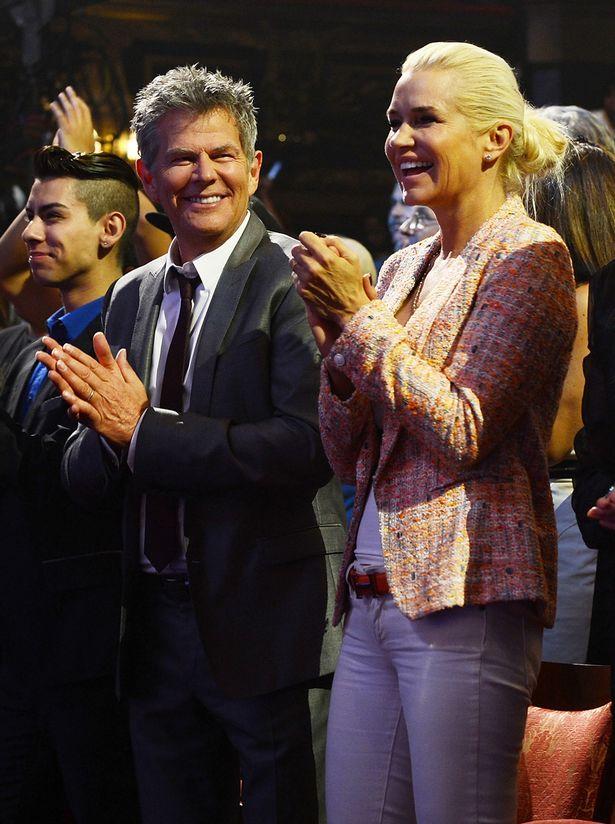 Yolanda Foster and David Foster on August 30, 2013
