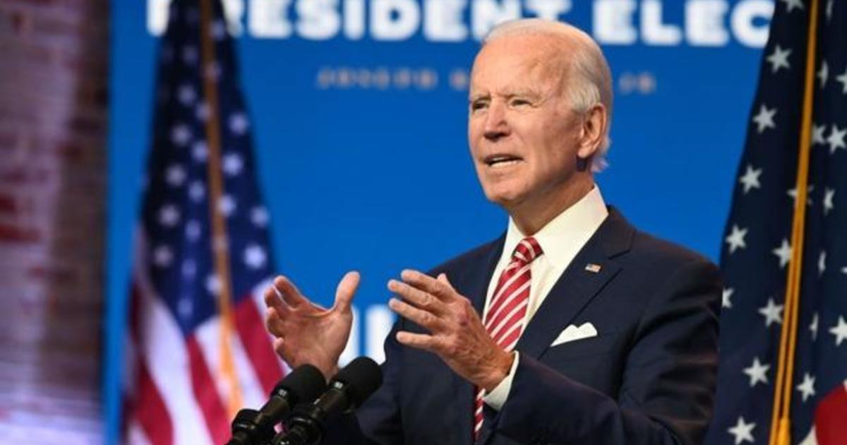 "Joe Biden says he ""wouldn't hesitate"" to get COVID-19 vaccine if it's approved"