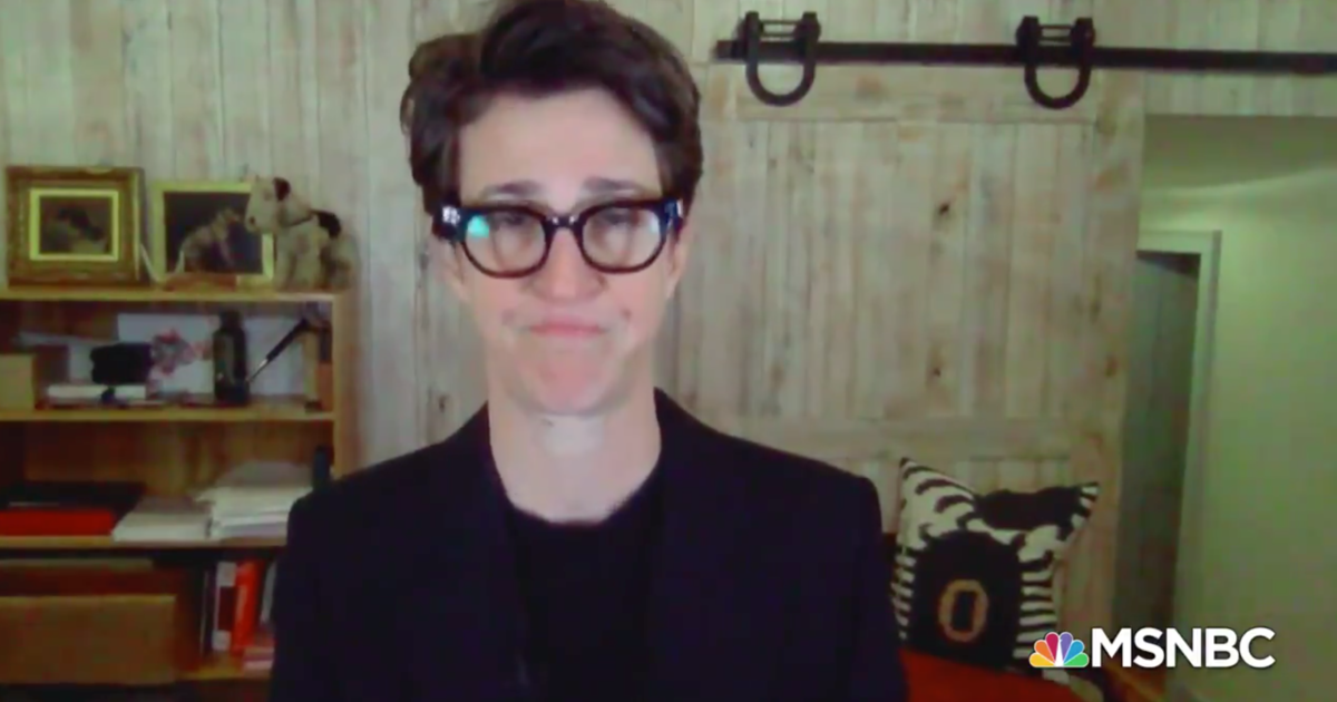 Rachel Maddow in emotional return after partner's COVID diagnosis