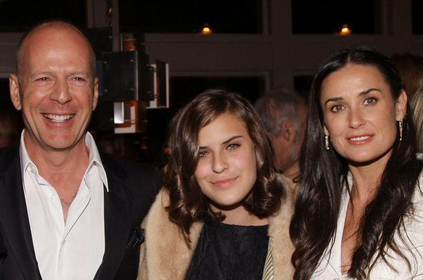 Bruce Willis, Tallulah Belle Willis and Demi Moore