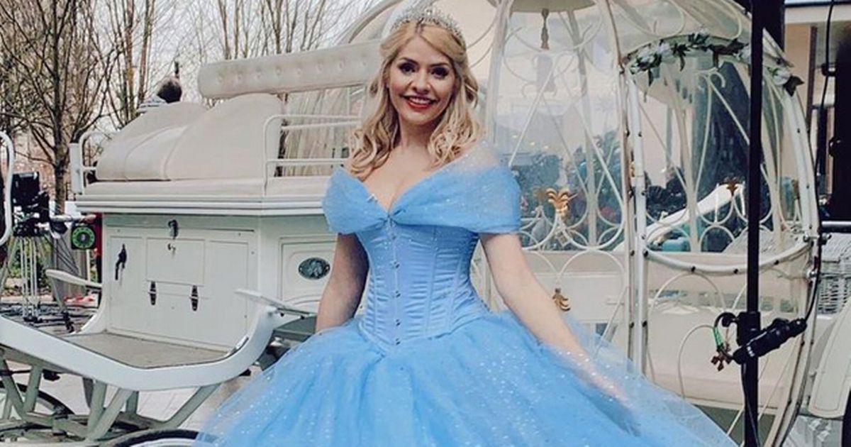 Holly Willoughby stuns in Cinderella gown as she larks about with Alison Hammond