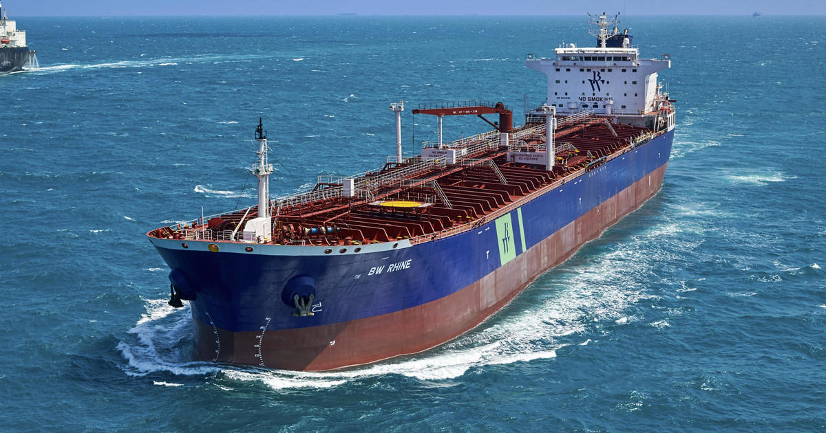 "Saudi tanker ""hit from an external source"" while unloading gas"