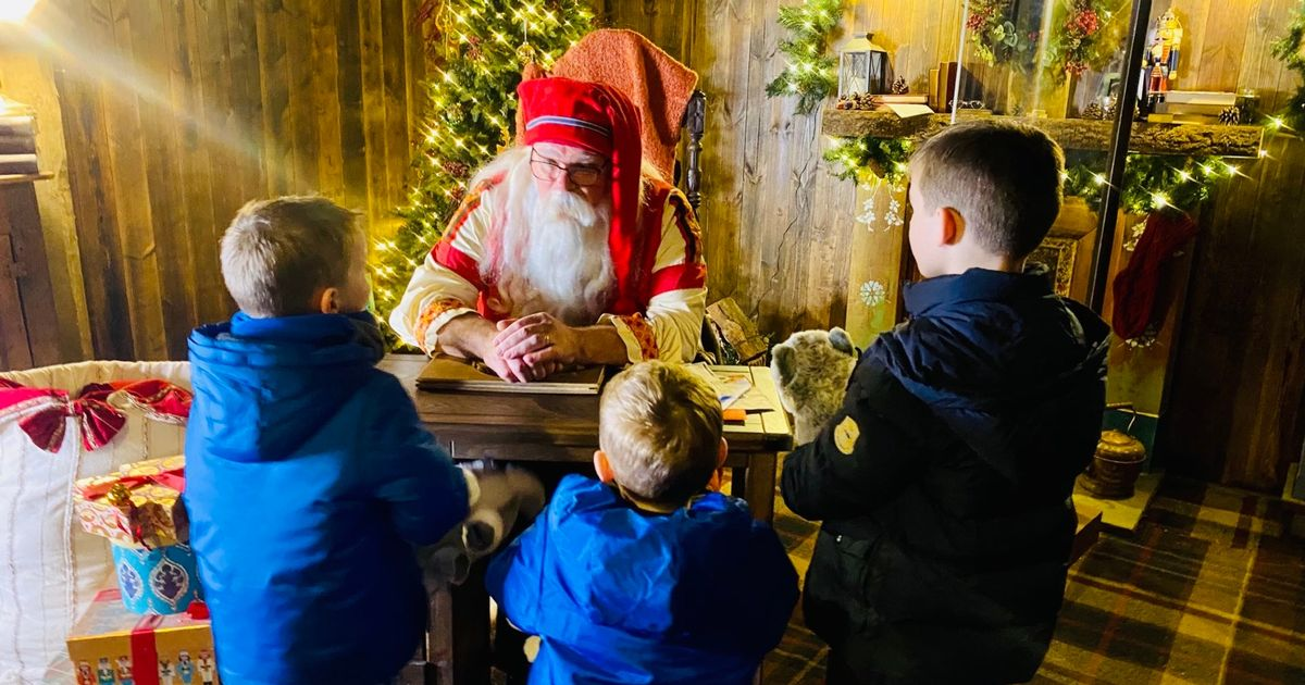 Coleen Rooney treats sons to Lapland UK trip to meet Santa before Christmas