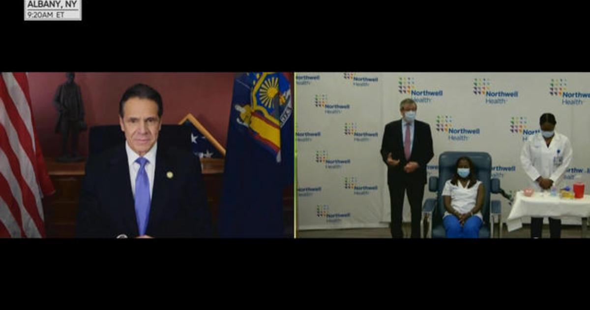 New York Governor Andrew Cuomo announces state's COVID-19 vaccine rollout