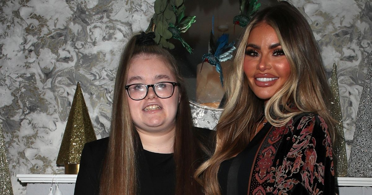 Chloe Sims poses with rarely seen daughter Maddie, 14, at TOWIE party