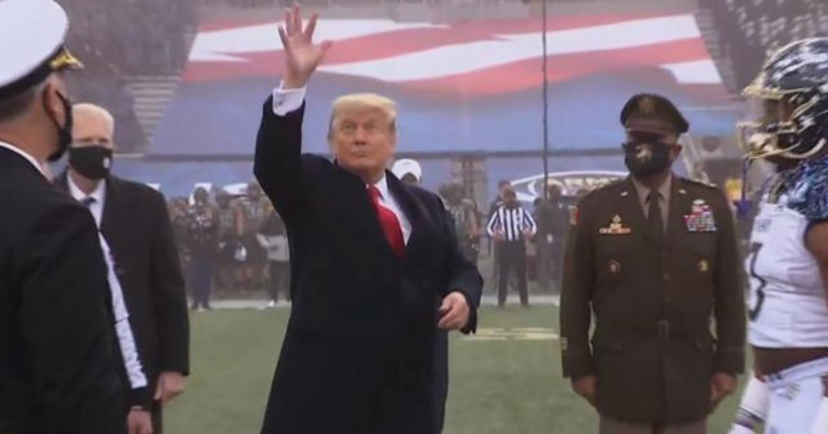 Trump attacks Republicans while attending Army-Navy football game