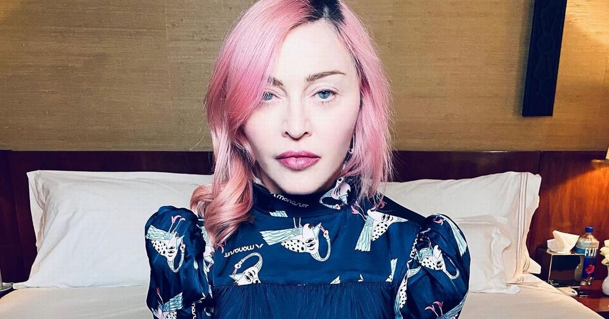 Madonna shares rare glimpse of twin daughters as they model colourful wigs