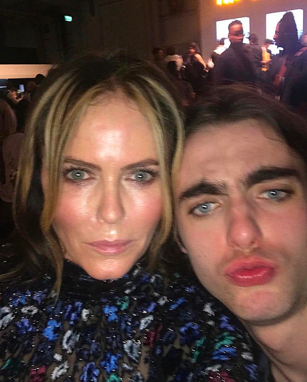 Patsy Kensit and son Lennon Gallagher, who is working as a model