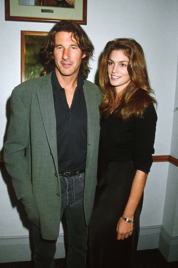 Cindy Crawford And Richard Gere attending the Mr. Jones Movie Premiere, London