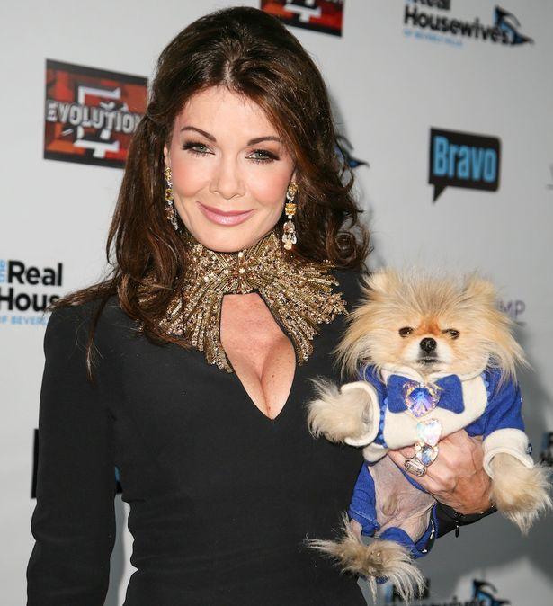 Lisa Vanderpump and her dog Giggy