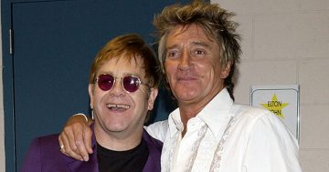 Rod Stewart turned air blue when Elton John married ex-wife Renate Blauel
