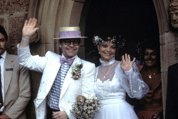 Elton married Renate on Valentine's Day in 1984