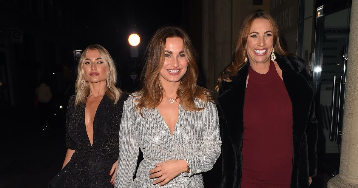 Sam Faiers stuns in minidress as she celebrates 30th with mum and sister
